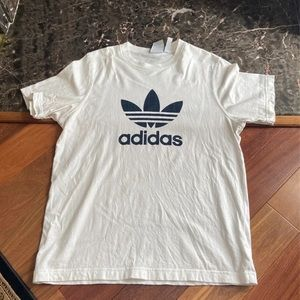 Adidas Tee with Plaid Logo Size Medium